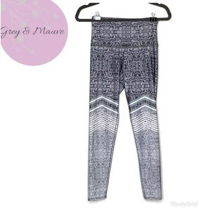 Onzie Flow Grey Printed High Rise Yoga Leggings